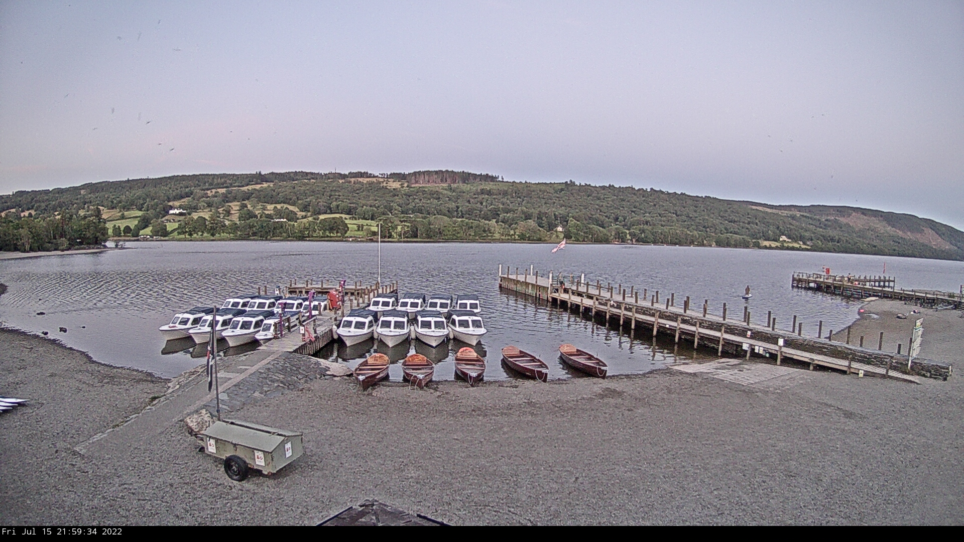 Live webcam from Coniston Boating Centre